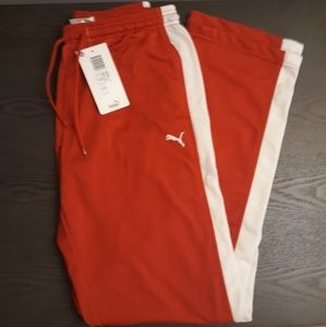 NEW RED PUMA TRACK PANTS SMALL